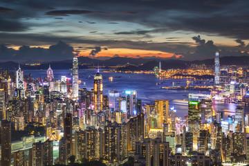 Colorful Hong Kong City