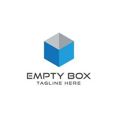 Abstract box logo design vector