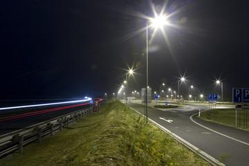 night highway and highway landing