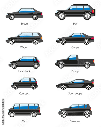 different car types icons set stock image and royalty free vector files on pic. Black Bedroom Furniture Sets. Home Design Ideas