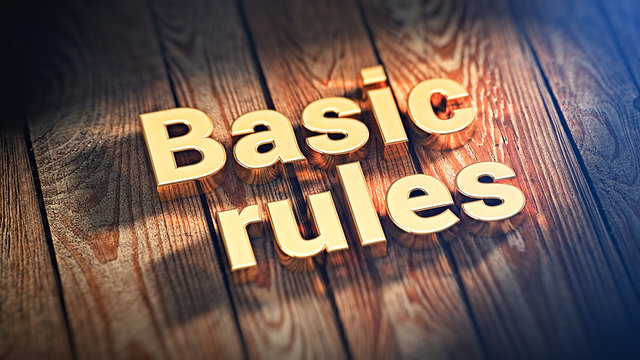 Phrase Basic rules on wood planks