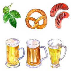 oktoberfest set of beer