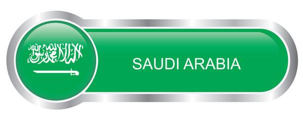 Saudi Arabia Flag glossy banner