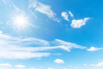 Blue sky background,