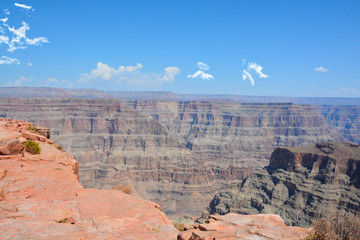 View of Grand Canyon and Colorado River from Skywalk, West Rim, Arizona
