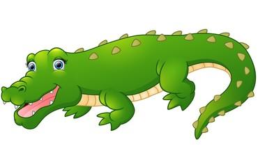 Cute cartoon crocodile
