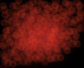 Black red dark background with bokeh raster graphic image