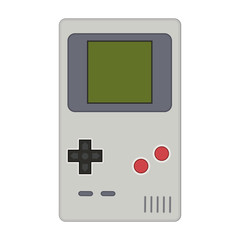 Gamepad vector illustration. Geek gaming retro gadgets from the