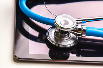 Tablet Computer With Stethoscope