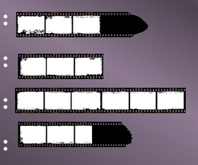 Wall Mural - frames of film, grungy blank film stripes, contact sheet,
