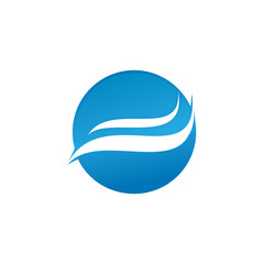 wave water logo icon concept