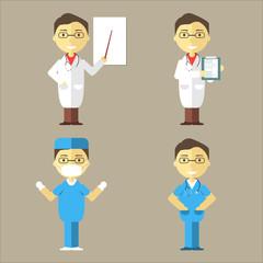 Doctor, Nurse and Surgeon