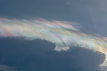 Irisation or iridescent cloud