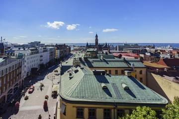 Aerial view of the beautiful Helsingborg