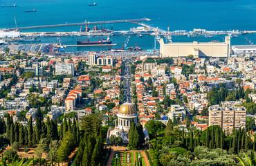 View over the Bahai Gardens in Haifa