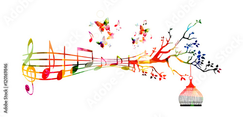 Creative Music Style Template Vector Illustration Colorful Music