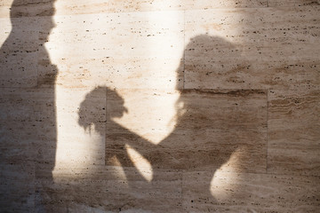 Shadows of the married couple