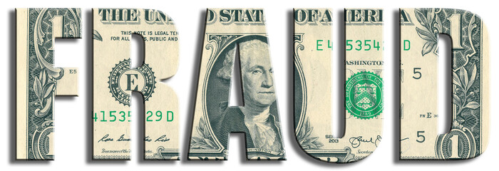Fraud or money waste crime. US Dollar texture.