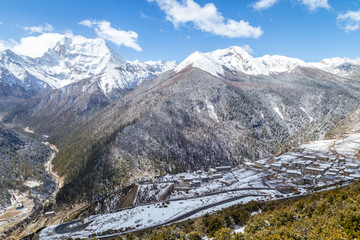 Yading national level reserve in Yunnan, China.