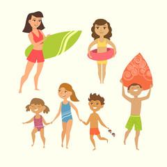 Vector illustration of kids