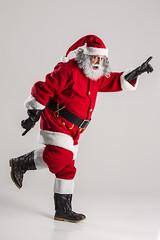 cheerful funny traditional santa claus