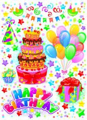 Vertical birthday set