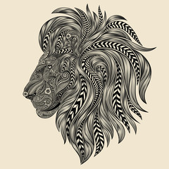 Vector lion from a variety of beautiful patterns
