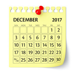 December 2017 - Calendar