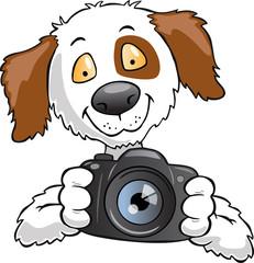 dog taking photograph