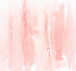 Abstract pink watercolor background (hand drawn)