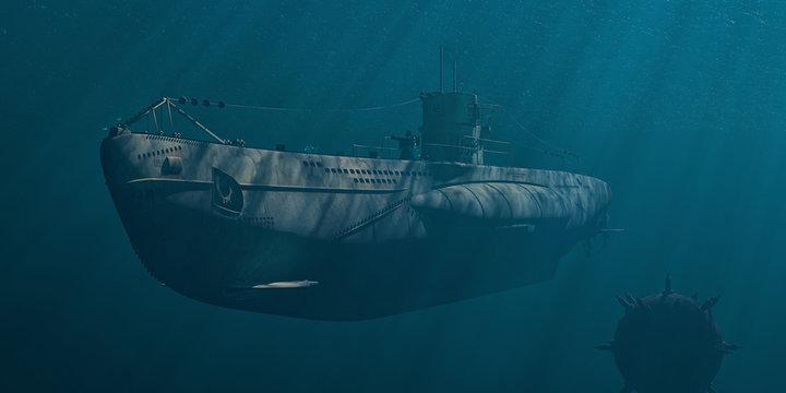 """U-Boot """"Type VII"""" hinter feindlichen Linien"""