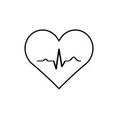 Heart with EKG signal.vector.
