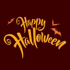 Happy Halloween. Vector lettering.