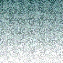 Teal color square mosaic vector background