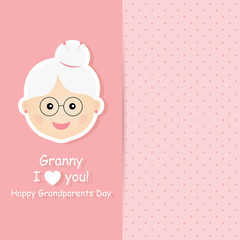 Greeting card for Happy Grandparents Day.