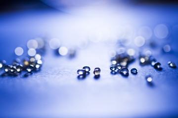 Small balls abstract with bokeh