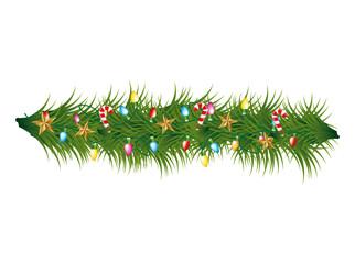 christmas wreath decoration icon vector illustration design