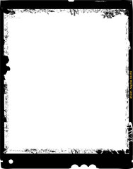 Wall Mural - large format film sheet photo frame,with free copy space,grungy