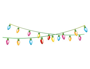 christmas lights colors electric vector illustration design