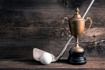 old trophy with golf club Wall mural