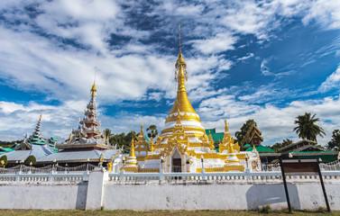 Temple Chong Klang and Chong Kham in Mae Hong Son province,Thailand