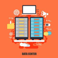 Flat concept of data center