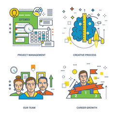 Project management, creative process, our team and career growth.