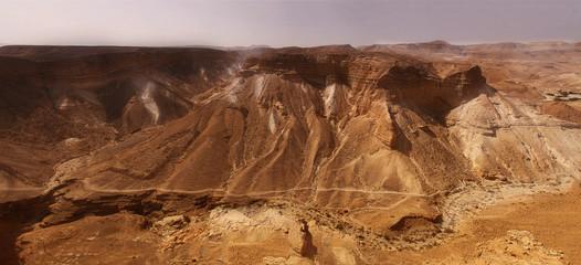 Desert mountains view from Massada in Israel
