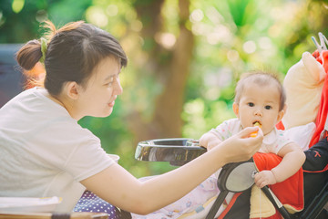 Feeding problems:a baby refusing to eat ,this is typical toddler behavior.