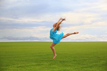 Jumping gymnast