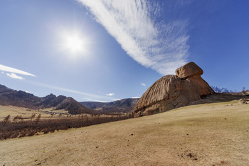 "Rock ""Turtle"" in  National Park Gorkhi-Terelj, Mongolia"