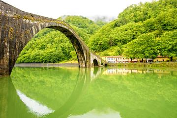 Devil's Bridge in Borgo a Mozzano near Lucca city in Italy