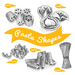 Pasta set illustration.