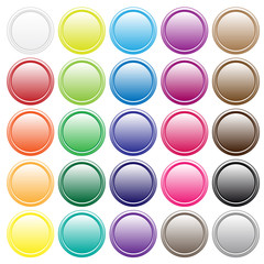 Colorful button collection